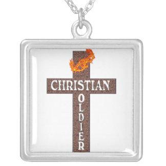 COLLAR cristiano del soldado