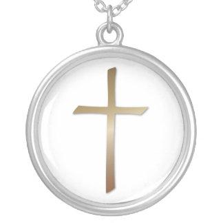 Collar cruzado de bronce