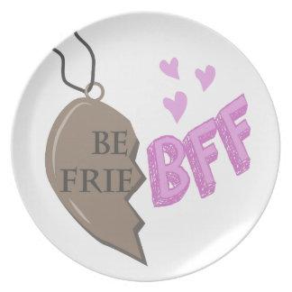 Collar de BFF Platos De Comidas