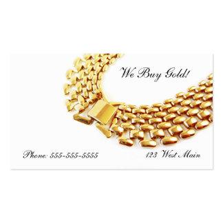 Collar de cadena de Bling del oro de compra-venta Tarjetas De Visita