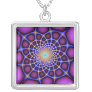 Collar de color de malva del universo del fractal