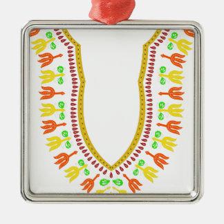 Collar de Dashiki Boubou del africano - caliéntese Adorno Navideño Cuadrado De Metal