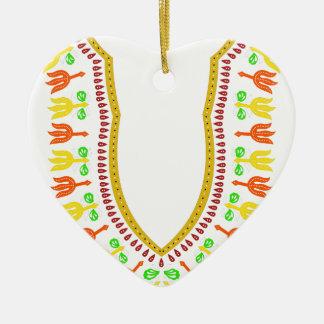 Collar de Dashiki Boubou del africano - caliéntese Adorno Navideño De Cerámica En Forma De Corazón