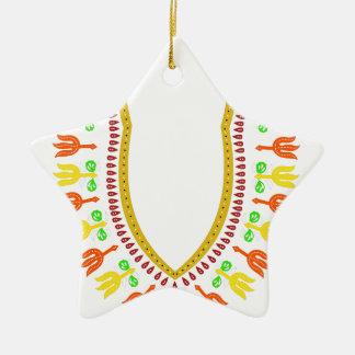 Collar de Dashiki Boubou del africano - caliéntese Adorno Navideño De Cerámica En Forma De Estrella