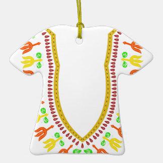Collar de Dashiki Boubou del africano - caliéntese Adorno Navideño De Cerámica En Forma De Playera