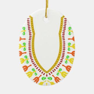 Collar de Dashiki Boubou del africano - caliéntese Adorno Navideño Ovalado De Cerámica