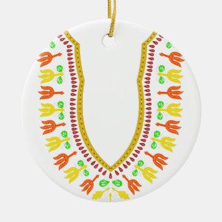 Collar de Dashiki Boubou del africano - caliéntese Adorno Navideño Redondo De Cerámica