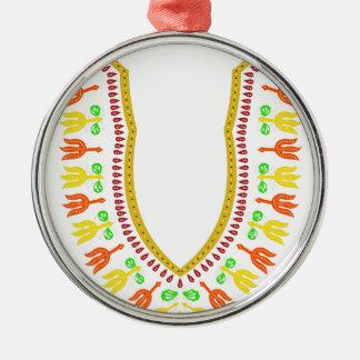 Collar de Dashiki Boubou del africano - caliéntese Adorno Navideño Redondo De Metal