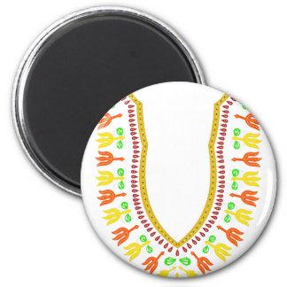 Collar de Dashiki Boubou del africano - caliéntese Imán Redondo 5 Cm