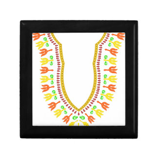 Collar de Dashiki Boubou del africano - caliéntese Joyero Cuadrado Pequeño
