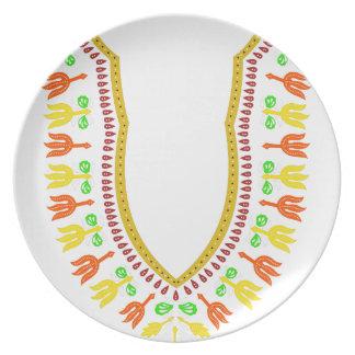 Collar de Dashiki Boubou del africano - caliéntese Platos De Comidas