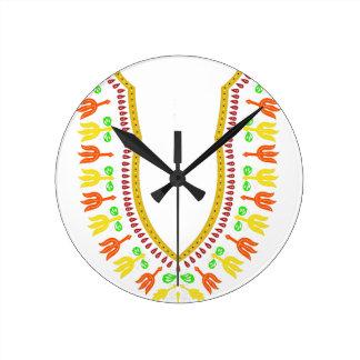 Collar de Dashiki Boubou del africano - caliéntese Reloj Redondo Mediano