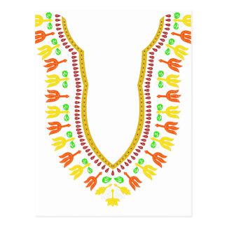 Collar de Dashiki Boubou del africano - caliéntese Tarjeta Postal