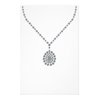 Collar de diamantes de Contessa del italiano Personalized Stationery