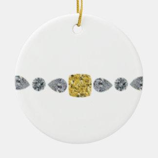Collar de diamantes de señora Yellow Adorno Navideño Redondo De Cerámica