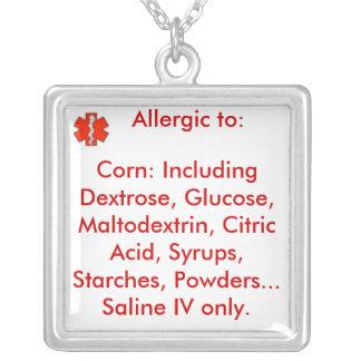 Collar de la alarma   de la alergia del maíz