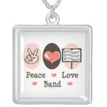 Collar de la banda del amor de la paz