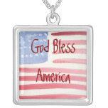 Collar de la bandera americana de la acuarela