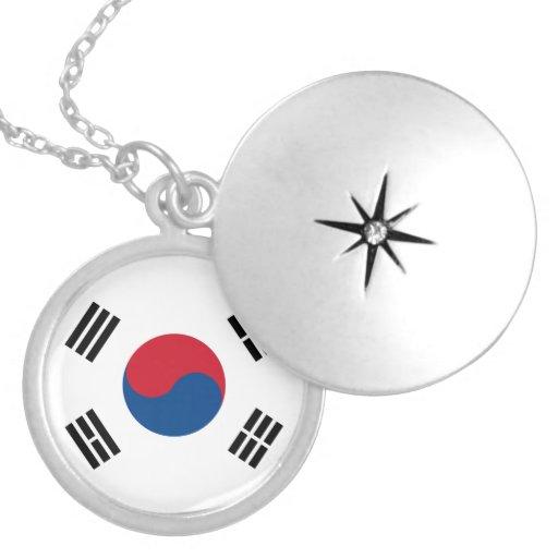 Collar de la bandera de la Corea del Sur