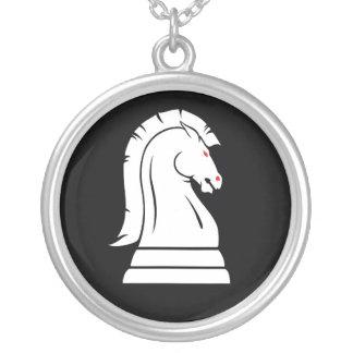 Collar de la cadena de la plata del caballero del