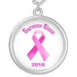 Collar de la cinta del rosa del cáncer de pecho