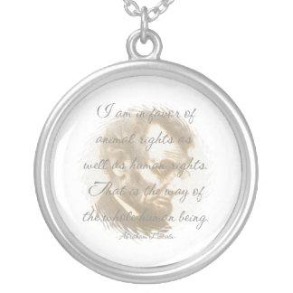 Collar de la cita de Abraham Lincoln