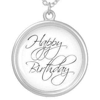 Collar de la escritura del feliz cumpleaños
