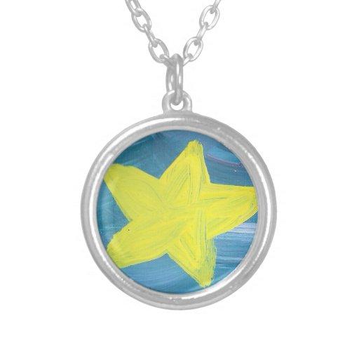 Collar de la estrella del azul y del amarillo