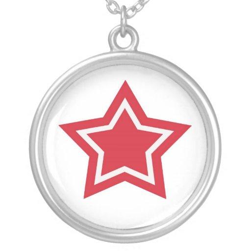 Collar de la estrella del rojo y del blanco