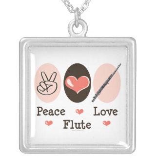 Collar de la flauta del amor de la paz