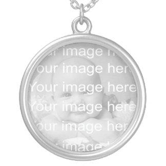 Collar de la foto del bebé de la plata esterlina