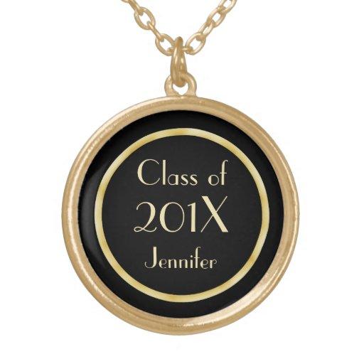 Collar de la graduación de la clase del oro