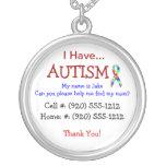 Collar de la identificación del niño del autismo (