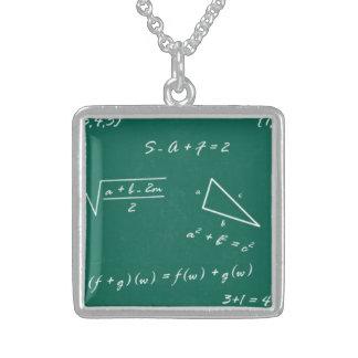 collar de la joyería del friki de la álgebra del