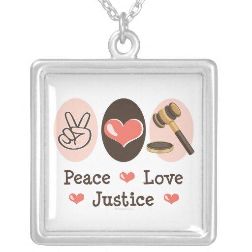 Collar de la justicia del amor de la paz