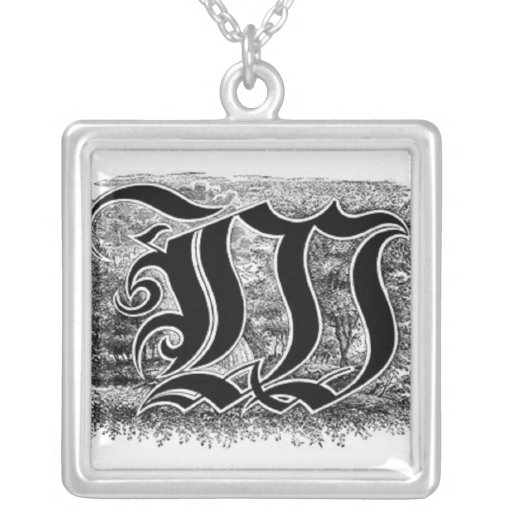 Collar de la letra W de la caligrafía