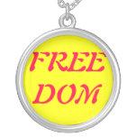 Collar de la libertad, placa de plata esterlina