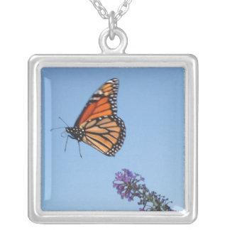Collar de la mariposa de monarca en vuelo