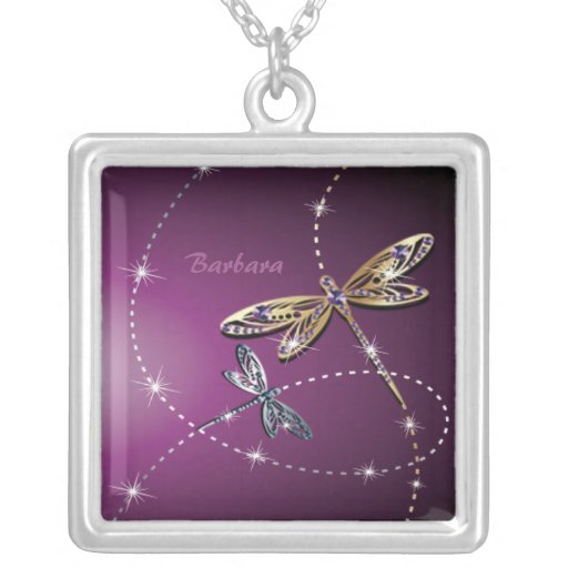Collar de la mariposa del diamante del encanto