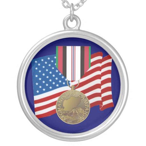 Collar de la medalla de la campaña de Afganistán