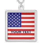Collar de la plata de la bandera americana