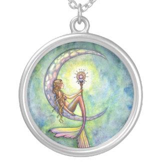 Collar de la plata esterlina de la luna de la sire
