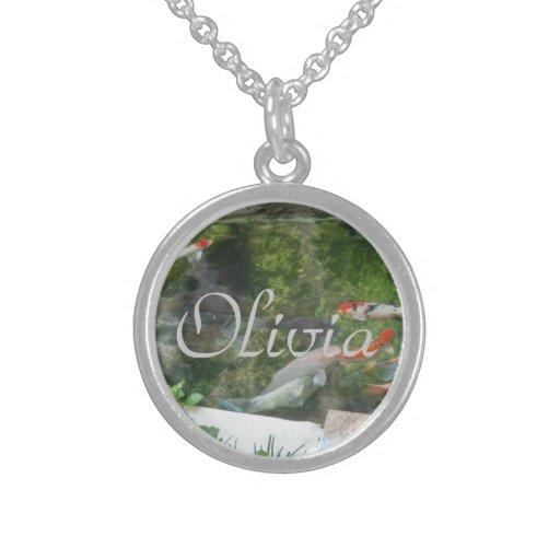 Collar de la plata esterlina de Olivia