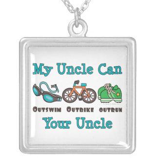 Collar de la plata esterlina de tío Triathlon