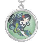 Collar de la plata esterlina del Aquamarine