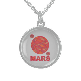 Collar de la plata esterlina del arte de Marte