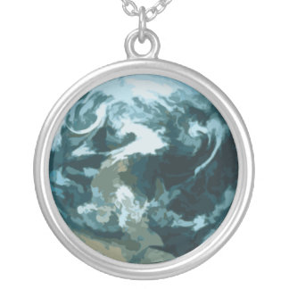 Collar de la plata esterlina del arte del mundo