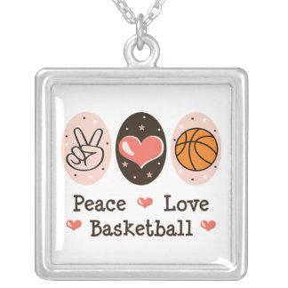 Collar de la plata esterlina del baloncesto del am