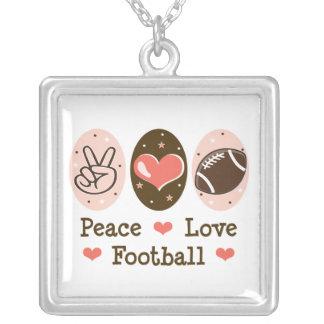 Collar de la plata esterlina del fútbol del amor d