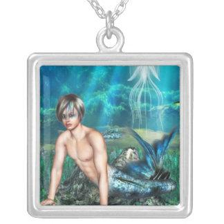 Collar de la plata esterlina del Merman